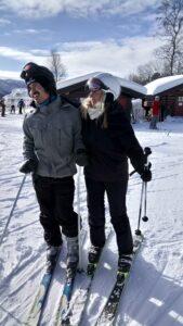 Beboere på skitur   Fonden Team Golå